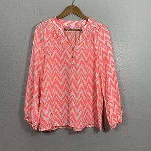 Lilly Pulitzer Get Your Chev On Elsa silk top